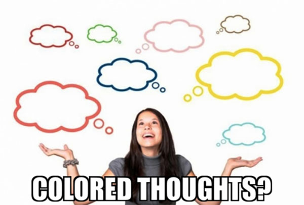 colored thoughts